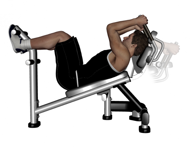weighted ab crunch machine