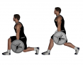Barbell Between Legs Split Squat