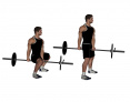 Barbell Between Legs Squat (Jefferson Deadlift)
