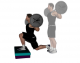 Forward Barbell Box Lunge