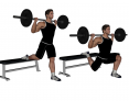 Barbell Bulgarian Split Squat