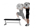 Barbell Elevated Front Foot Front Hold Reverse Push Back