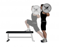 Barbell Elevated Front Foot Reverse Push Back