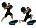 Barbell Split Squat with Elevated Front Foot