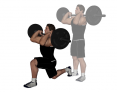 Barbell Front Lunge