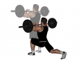 Barbell Front Reverse Lunge