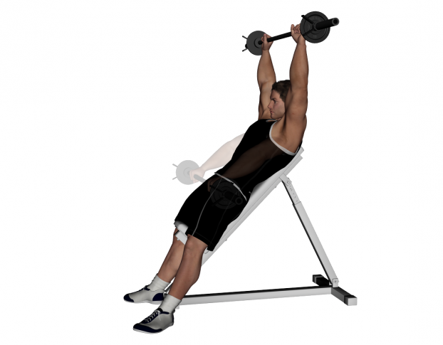 Barbell Front Raise Barbell inclined front raise