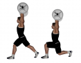 Barbell Overhead Split Squat