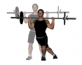 Barbell Reverse Crossover Lunge