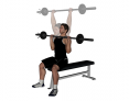 Seated Barbell Front Press with Narrow Grip