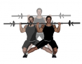 Barbell Side-Up-Side Lateral Lunges