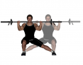 Barbell Side to Side Lateral Lunge