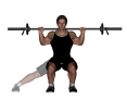 Lateral Squat with Barbell