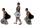 Barbell Squat and Walk