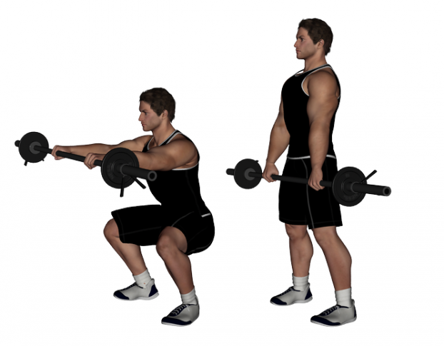 Barbell Squat With Front Raise Pictures
