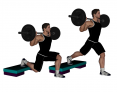 Barbell Split Squat with Elevated Back Foot