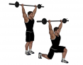 Overhead Barbell Split Squat with Wide-Grip