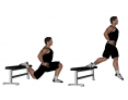Bulgarian Split Squat with Jump