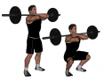 Crossed-Arm Barbell Front Squat