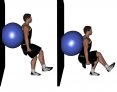 Single Leg Wall Squats with Dumbbells