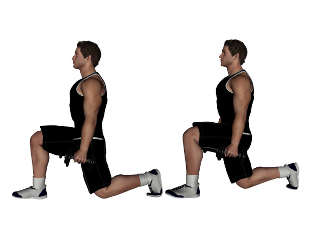 Dumbbell Lunge Your Way To Ripped Thighs And Hamstrings