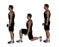 Dumbbell Lunge Walk