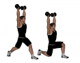 Dumbbell Standing Overhead Split Squat