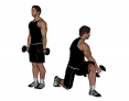 Dumbbell Standing Rotational Lunge