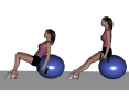Dumbbell Seated Roll on Ball