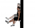 Single Leg Wall Slide to Squat with Dumbbells