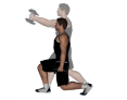 Dumbbell Split Squat with Front Raise