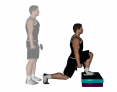 Dumbbell Box Lunge