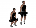Dumbbell Squat Jump
