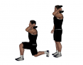 Dumbbell Standing Offset Lunge