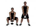 Pile Dumbbell Squat