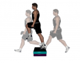 Dumbbell Step Over with Knee Drive