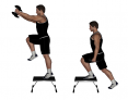 Dumbbell Step Up and Front Raise