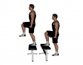 Dumbbell Step-Up with Knee Kick