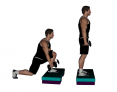 Dumbbell Reverse Box Lunge with Forward Reach