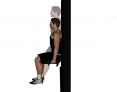 Dumbbell Wall Slide to Squat
