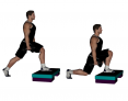 Dumbbell Split Squat with Elevated Front Foot