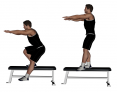 Elevated Standing Body-Weight Single Leg Squat