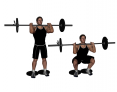 Barbell Front Squat With Heels Raised