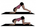Kneeling to Inverted V Pose