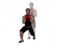 Medicine Ball Angled Forward Lunge