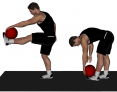 Medicine Ball Dynamic Leg Lift