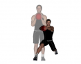 Medicine Ball Forward Reach Angled Reverse Lunge