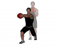 Medicine Ball Forward Reach Angled Forward Lunge
