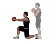 Medicine Ball Forward Reach Forward Lunge