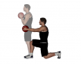Medicine Ball Forward Reach Reverse Lunge